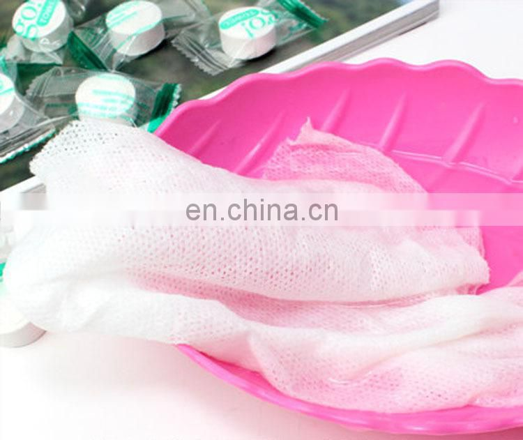 100% rayon disposable compressed magic coin mini napkin for cleaning up towel