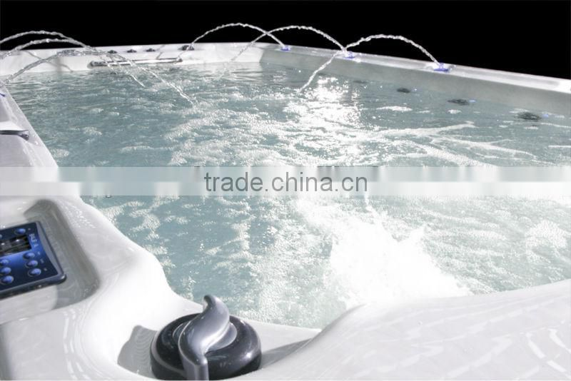 CE approved freestanding acrylic swimming pool whirlpool massage large outdoor balboa swim spa