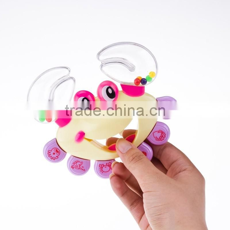 wholesale Newborns Rattles set of gift boxes containing crab bell infant educational toys
