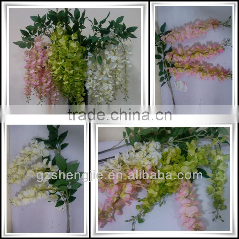 wedding stage artificial wisteria flower for sale