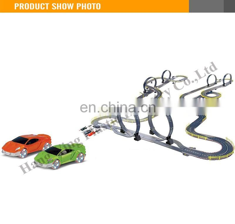 Most Popular B/O Speed Track car with light electric toy race track