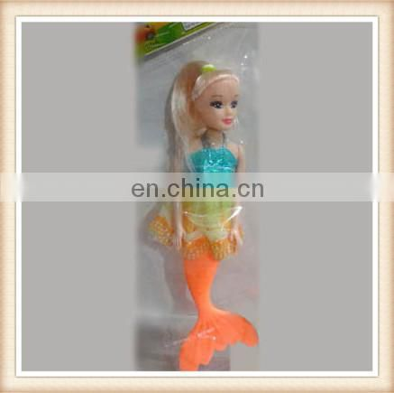 "7"" plastic beautiful girl mermaid rag doll"