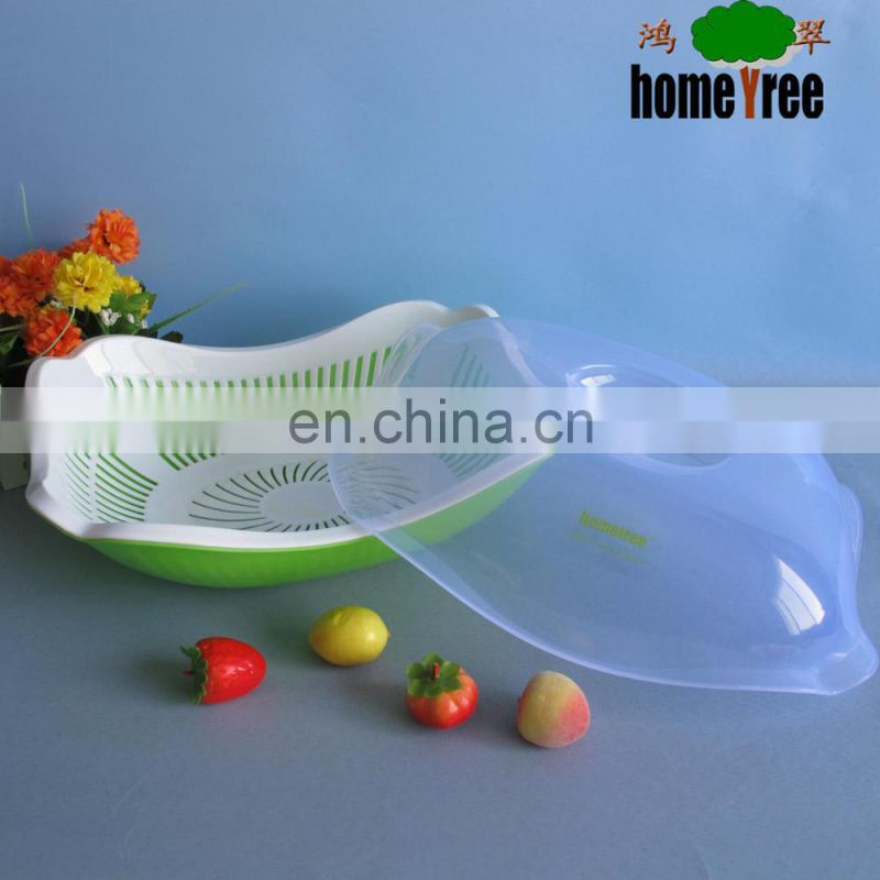 pp square plastic strainer with lid