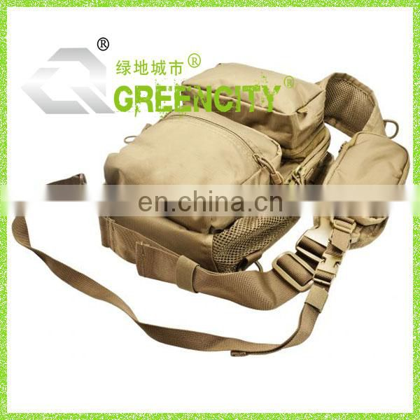 Khaki 600D/PU Fashion durable Outdoor Sling Bag