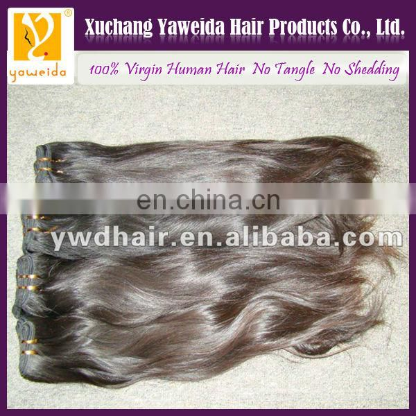 high quality natural straight selling high quality virgin peruvian hair weft