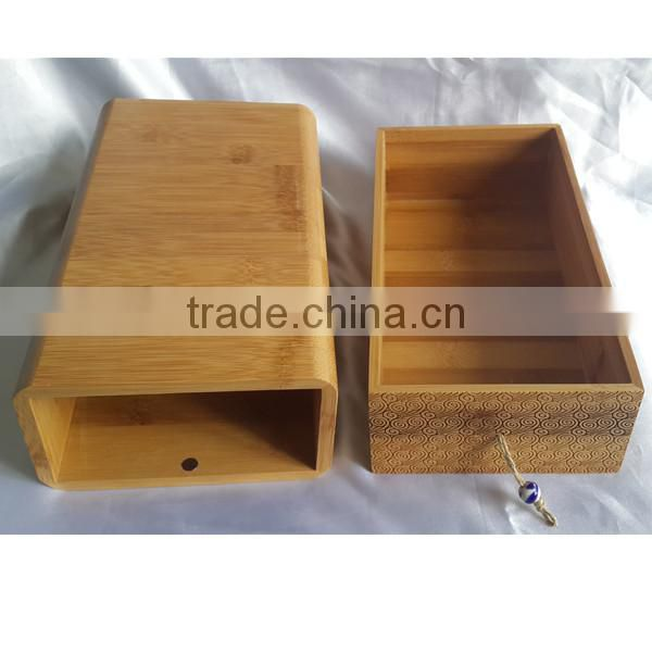 Bamboo drawer design funeral casket urns for ashes