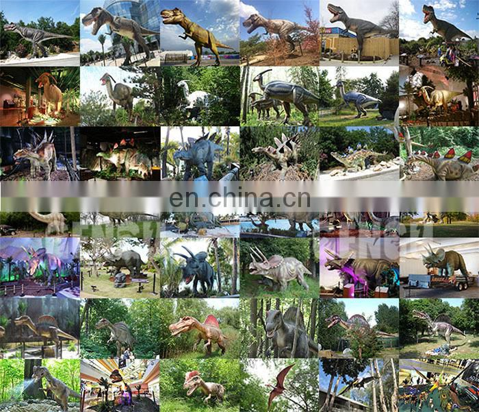 High Simulation Fiberglass Model For Adventurous Park Dinosaur