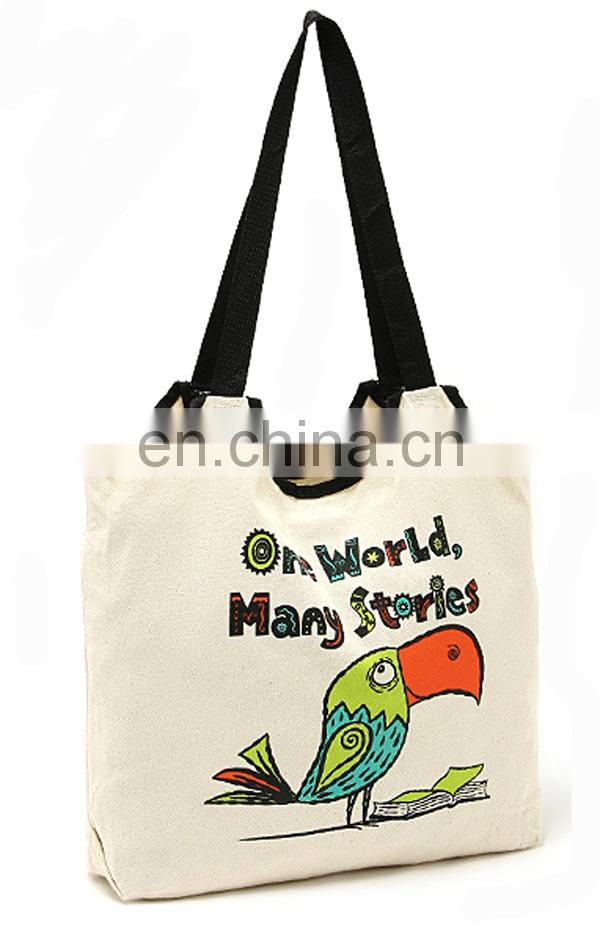 Large promotional canvas tote bag