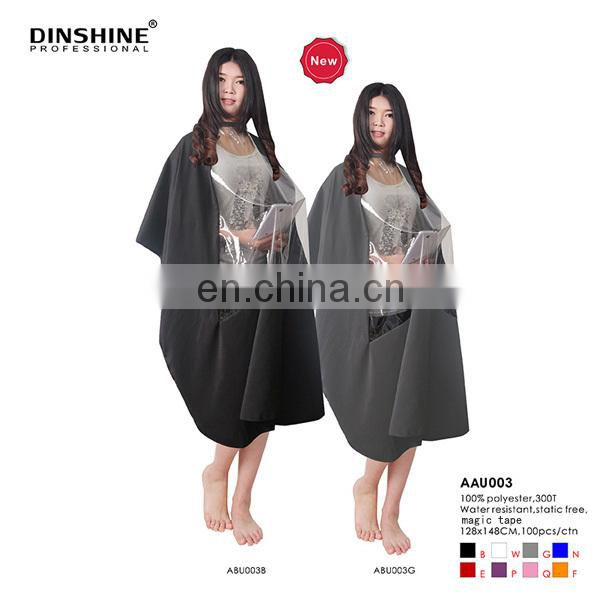 2017 popular hot selling hairdressing capes for salon using