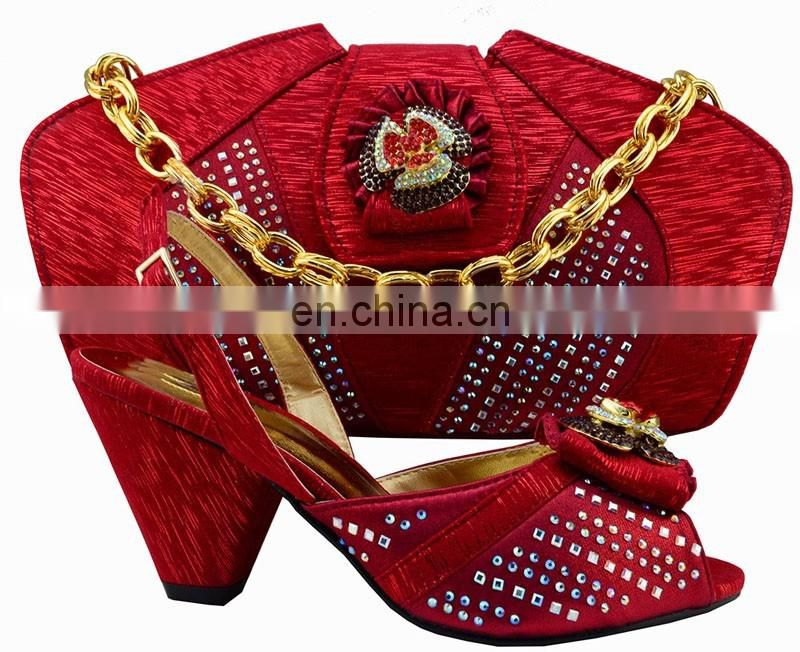 Hot selling ladies shoes and bags/italian party shoes and bags/gold shoes and bags to match