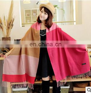 WOOL AND CASHMERE BLANKET PONCHO for air-conditioning