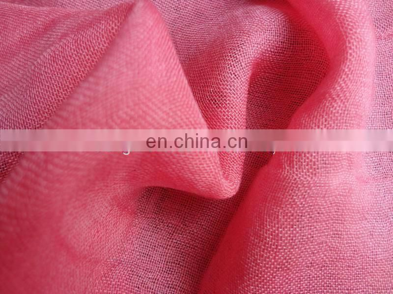 Worsted woven 210S*60S plain scarf wool silk fabric