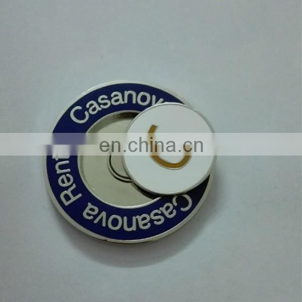 Hard enamel magnetic golf ball markers customized company logo ball markers