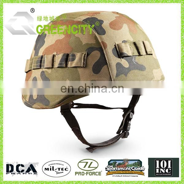 Military Surplus Camo Helmet with Kevlar