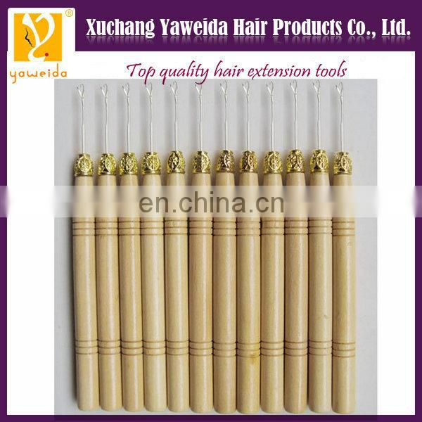 Wholesale price hot sales metal handle hair extension hook, hair extension pulling needle