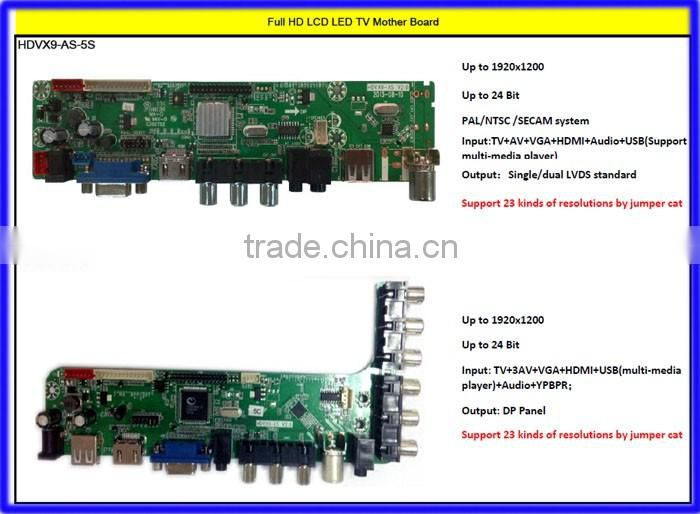 HDMI VGA USB 2*AV Universal Car LCD Display Monitor Mother Control