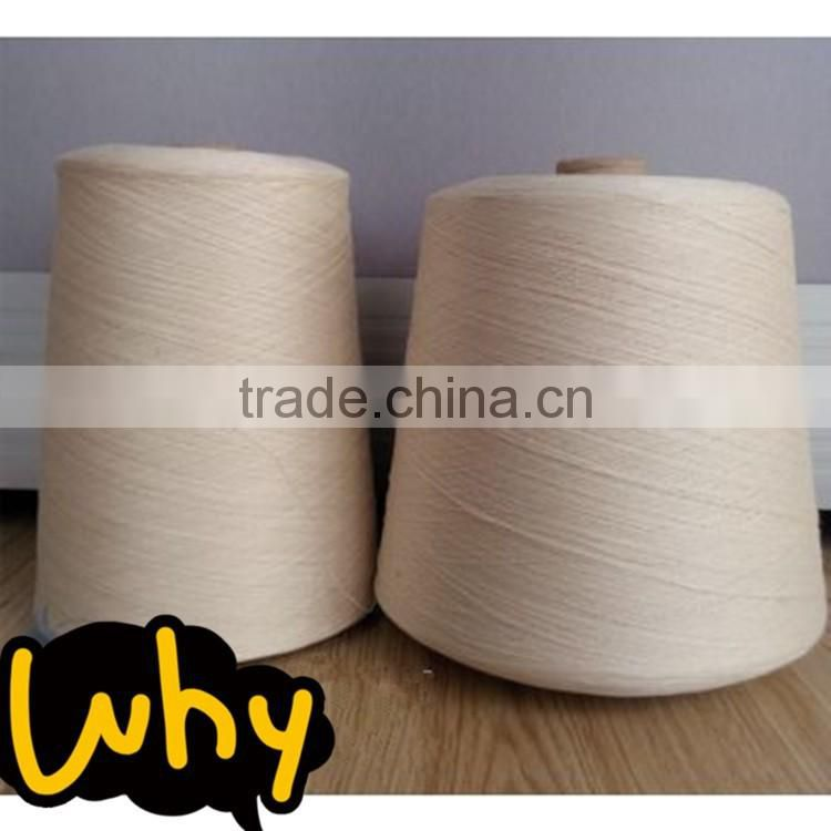 High quality 100% long stapled dyed combed cotton yarn 60s for weaving
