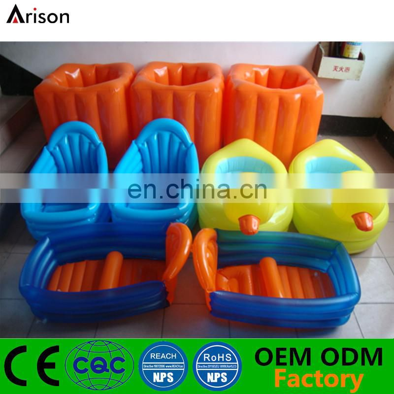 Infant foldable bathtub inflatable PVC bath pool for new born baby made by China manufacturer