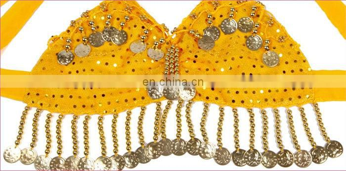 New arrival Indian egyptian children belly dance costume set with veil and top and skirt with size S M L XL ET-004