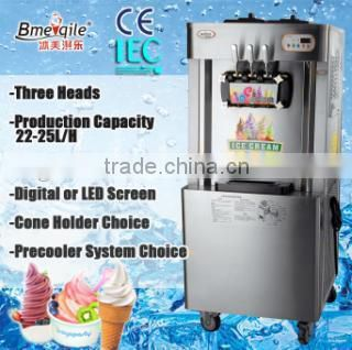 Prince commercial full body stainless steel table top 3 flavors soft serve ice cream making machine