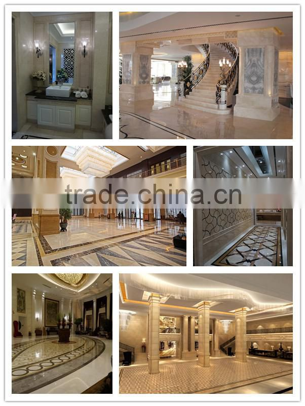 Oman Marble Stone Tiles Oman Rose Marble Beige Marble CNC Wall Panels Decorative Wall Thin Laminated 3D Skirting 3D Wall Panels