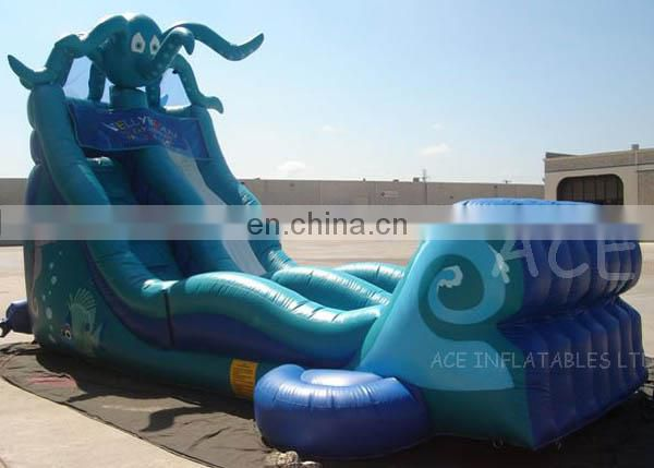 Inflatable Oct Water Slide with pool for sale