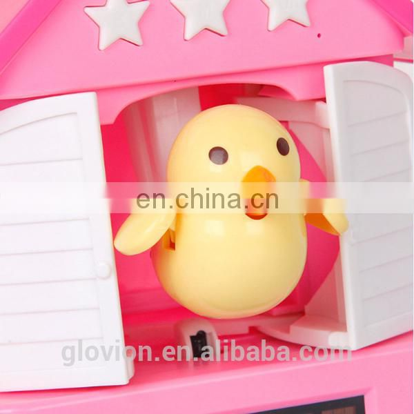 Hot sale LED battery bird shape alarm clock