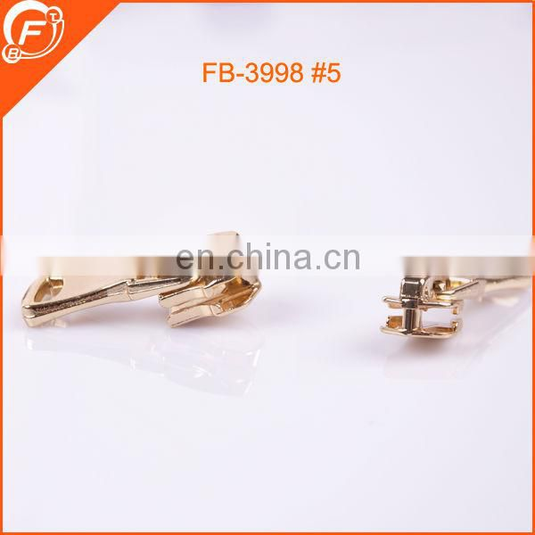 china wholesale 5# metal brass zipper slider