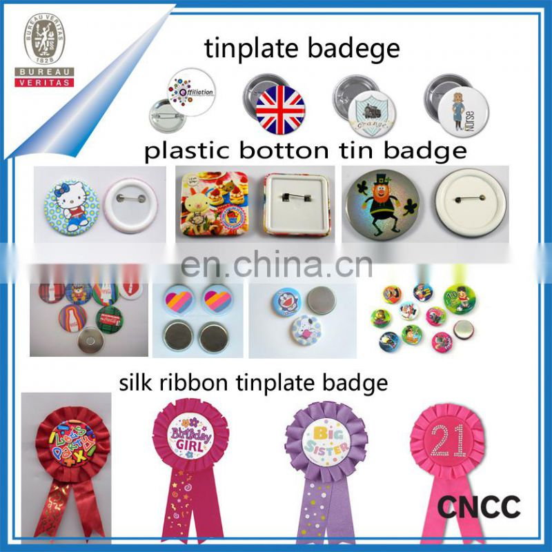colorful design hot selling custom custom tin badge/ metal pin badge/button badge