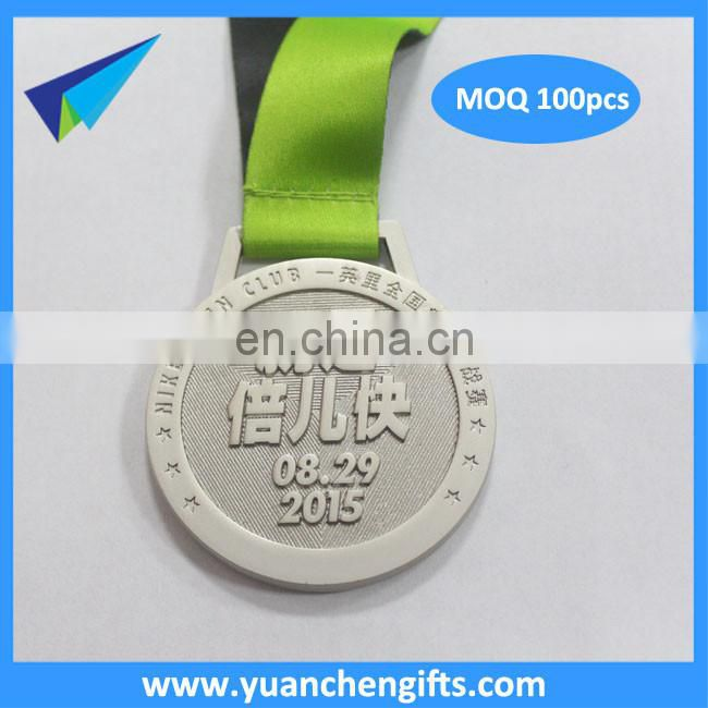 2016 factory price metal custom Cycling medal with trophies drape