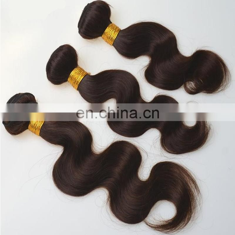 Color 2# body wave peruvian hair bundles