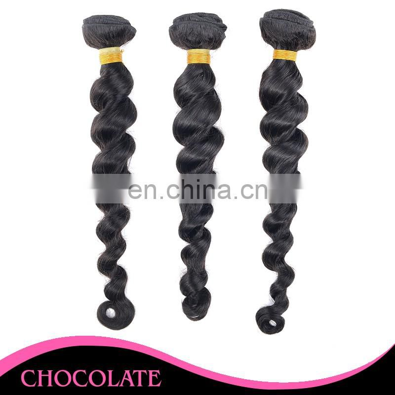 cheap price long loose wave natural color unprocess hair can restyle and dyed