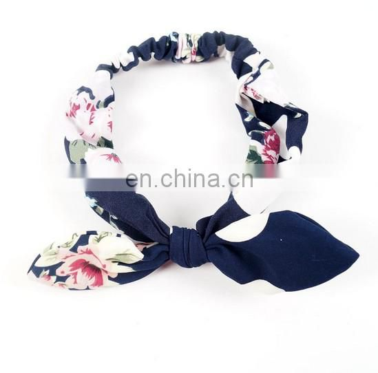 Black Flora Headbands Baby Knotted Head Wrap With Ears For Baby Hairband Photo Prop