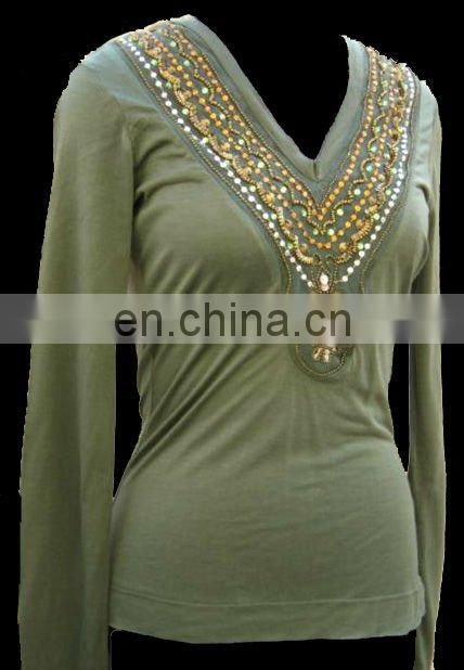 Long Hand Ladies Tunics Tops latest design 2017