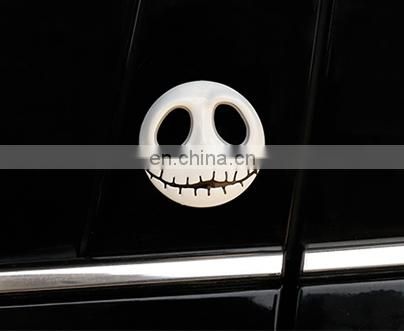 Wholesale customized Hallowmas Skull jack pumpkin king car sticker car logo metal