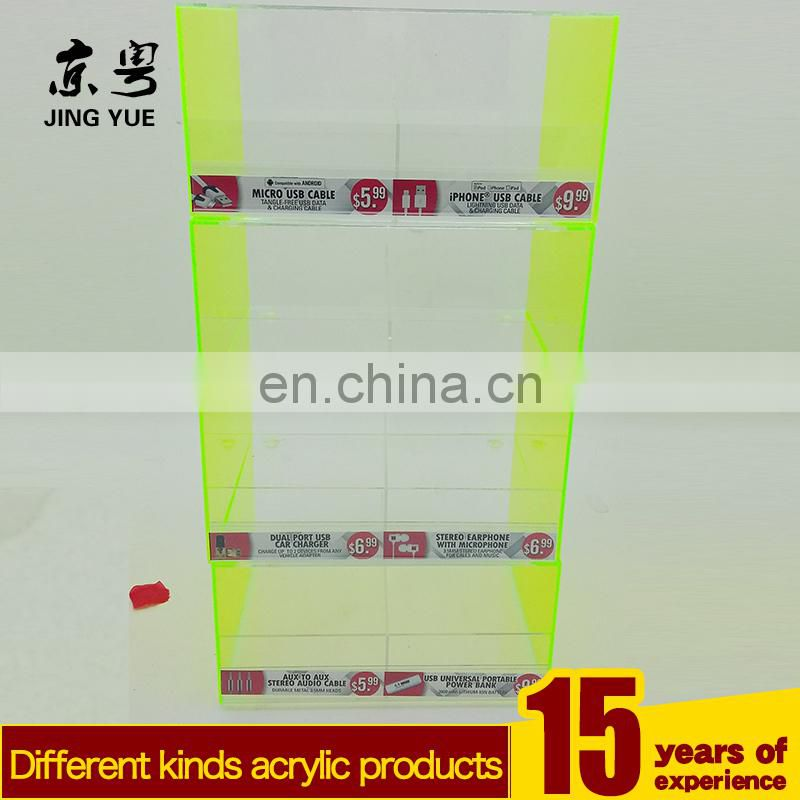 Factory custom pmma plexiglass mobile cell phone accessories display rack acrylic cell phone accessories display stand