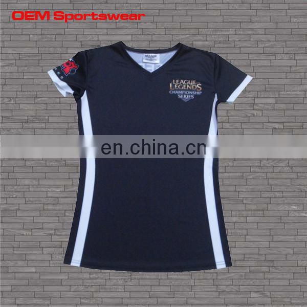 Custom design kids dry fit shirts wholesale