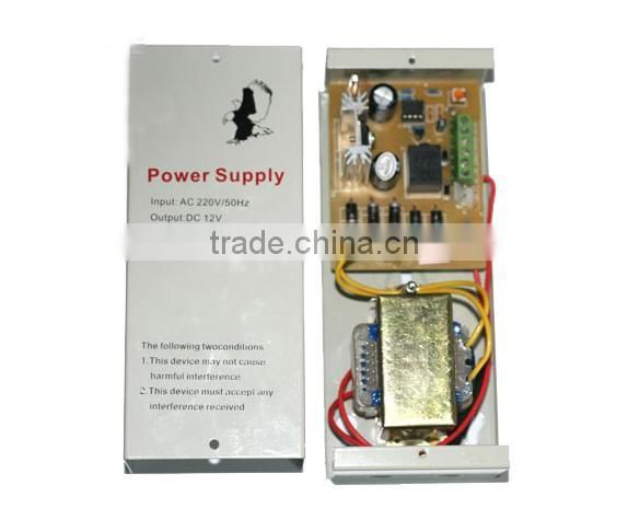 HSY-K100 Top supplier security 12V 3A power adapter power supply control for magnetic lock