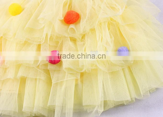 2015 New Style Fashion Baby Girl TuTu Skirt Layered Tulle Pink Children Mini Skirt For Infant Kids Wholesale ST40828-7