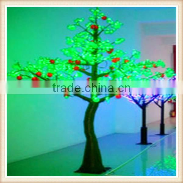 Hot-sale garden decoration large plastic artificial LED plants