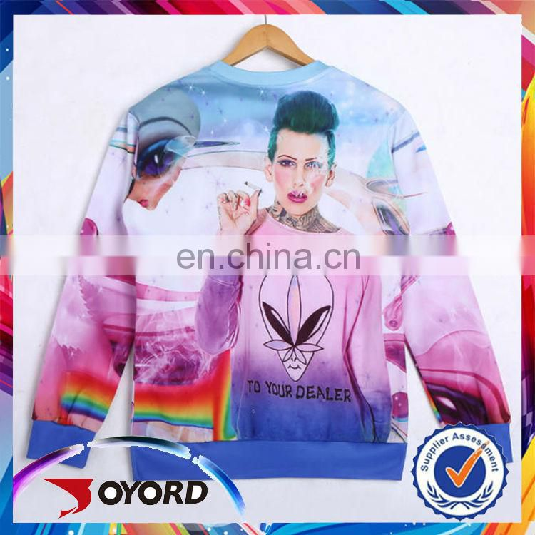 Long sleeve O-neck fashoion clothing wholesale t-shirt printing