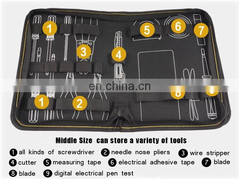 China supplier factory small nylon electrical tool pouch