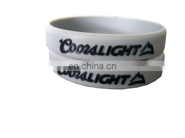 printed light green silicone bracelet