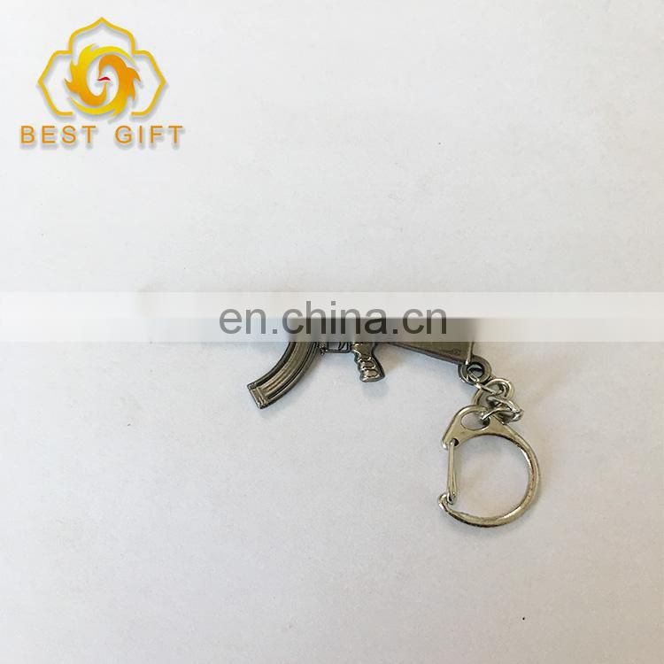 Promotional Custom Shape Metal Gun Shape Keychain