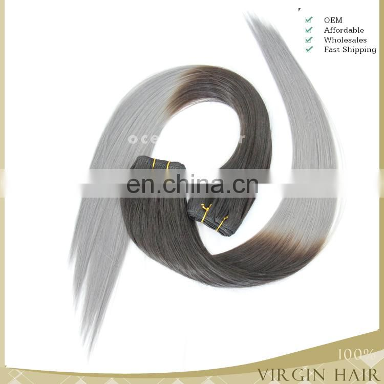 2015 new coming!!!beautiful colour super quality fashionable virgin cheap wholesale grey remy human hair weave