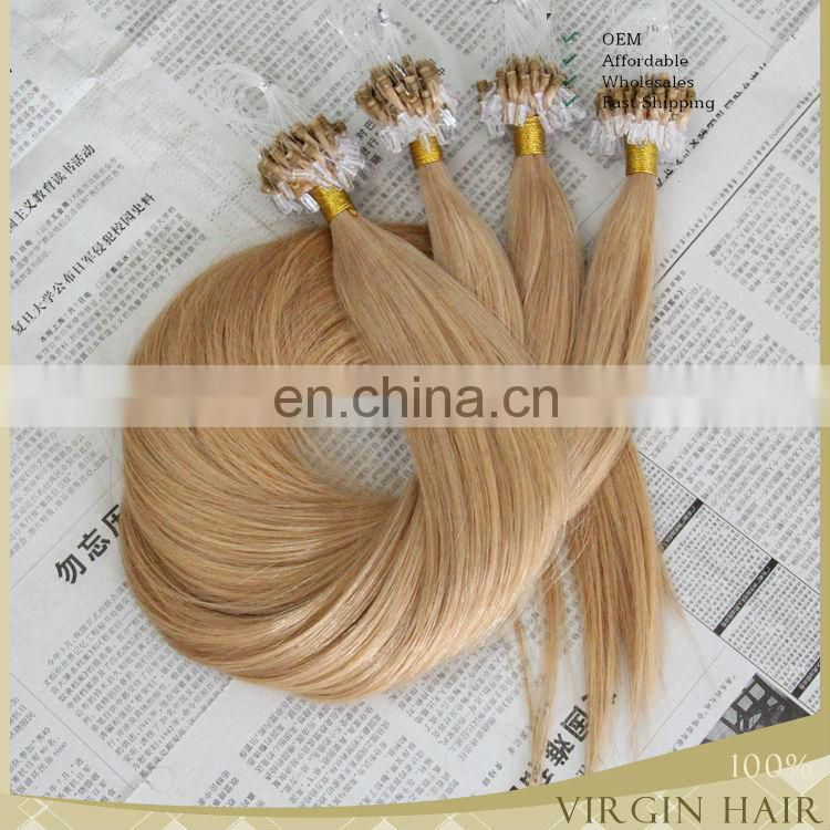 wholesale 6a grade 26 inch indian remy hair 1g nano ring hair extensions