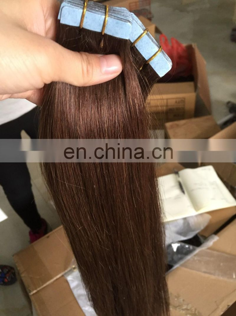 Top grade fast shipping cheap invisible tape hair extensions,brazilian tape hair extensions