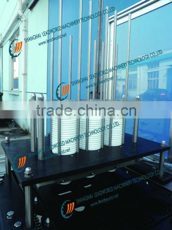 Touch screen type plastic cup filling and sealing machine