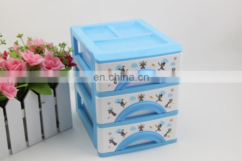 3 tier storage drawers plastic stackable