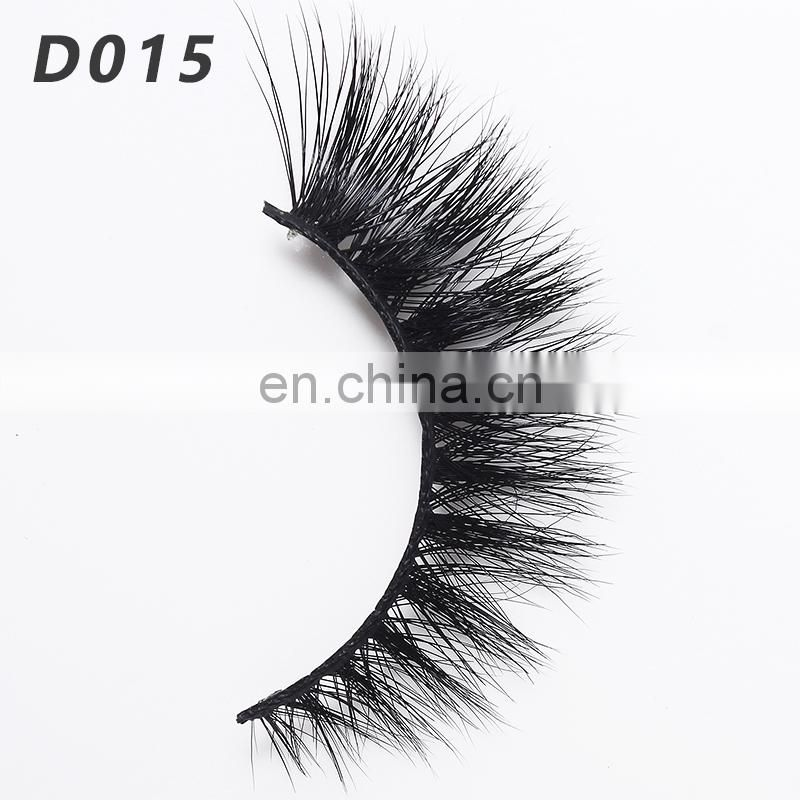 D015 Wholesale Private label Mink Fur Strip Luxury 3D Eyelashes